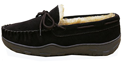 Utah Slippers by Lined Faux Slipper Rootbeer Tamarac Shearling Men's International THOITqp