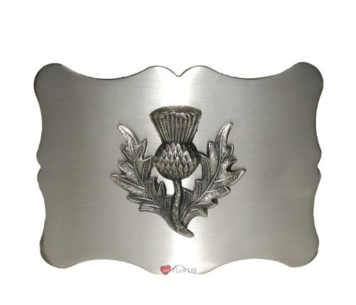 Traditional Thistle Kilt Belt Buckle Antique I Luv LTD
