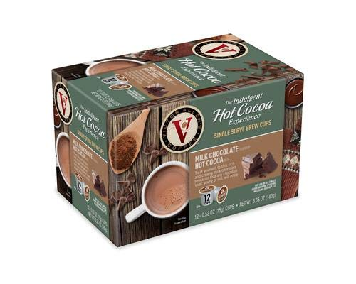 Indulgio New Milk Chocolate Hot Cocoa, 12-Count Single Serve Cup for Keurig K-Cup Brewers