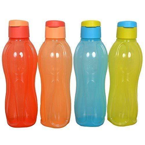 multicolore Set di 4 borracce da 1 litro Nexxa Tupperware Aquasafe