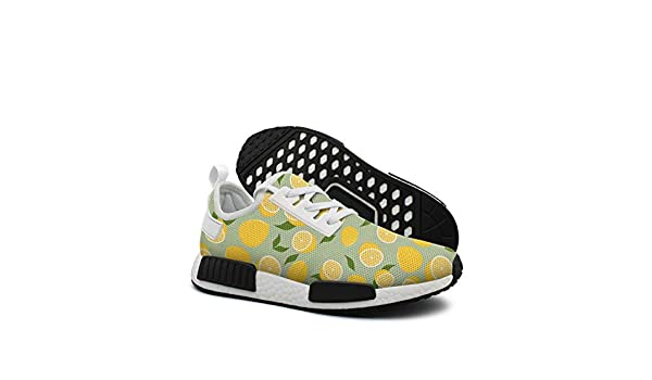 Mellow Lemons Pattern mesh lightweight shoes for women cool sports athletic Sneakers shoes
