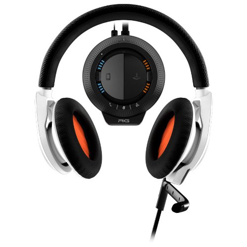 Plantronics RIG Stereo Gaming Headset with Mixer for Xbox 360 and PS3 - Retail Packaging - White - Headset For Ps3 Rig