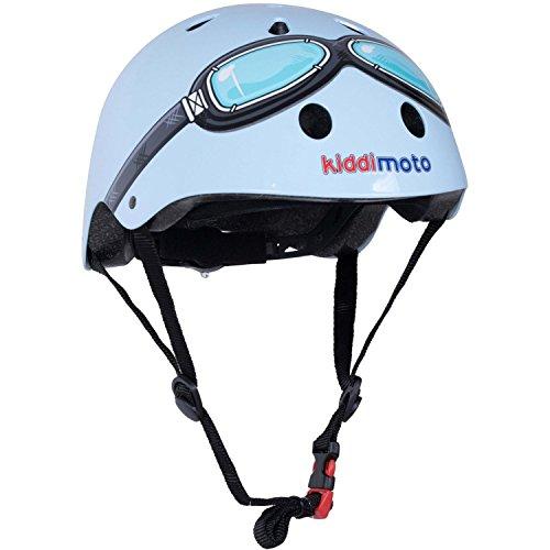 Kiddimoto Casco de Bicicleta para Niños, Diseño de anteojos