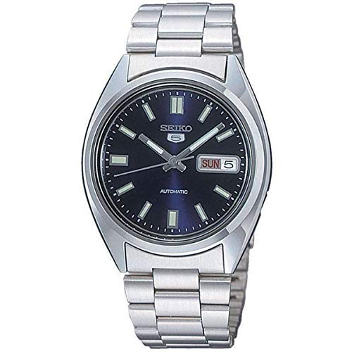 - Seiko SNXS77 Automatic Blue Day Date Dial Silver Steel Bracelet Men Watch NEW