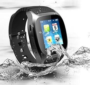 Elegiant® M26 Bluetooth elegante reloj de pulsera teléfono Mate para Android Samsung Nota4 / 3 S5 LG HT: Amazon.es: Electrónica