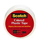 Scotch 190WT Colored Plastic Tape,  3/4 x 125-Inch,  White...