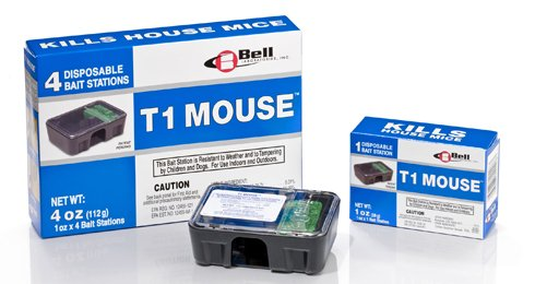 (T1 Mouse Disposable Mouse Bait Stations-1 Box (4 stations))