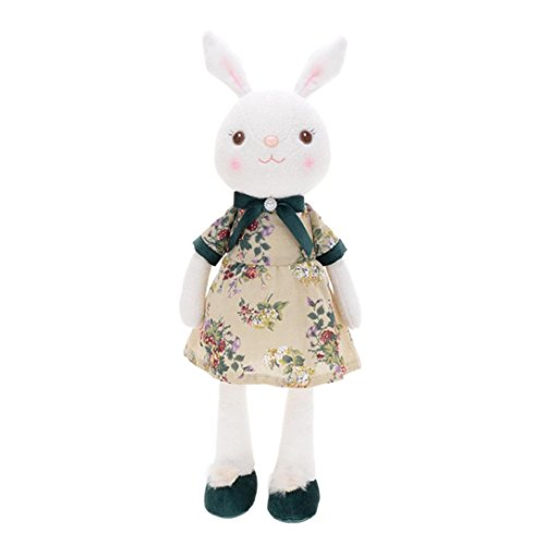 Transer Cute Rabbit Animal Dolls Lovely Stuffed Plush Doll Gifts Collection Interactive Toys (Rabbit - CD)