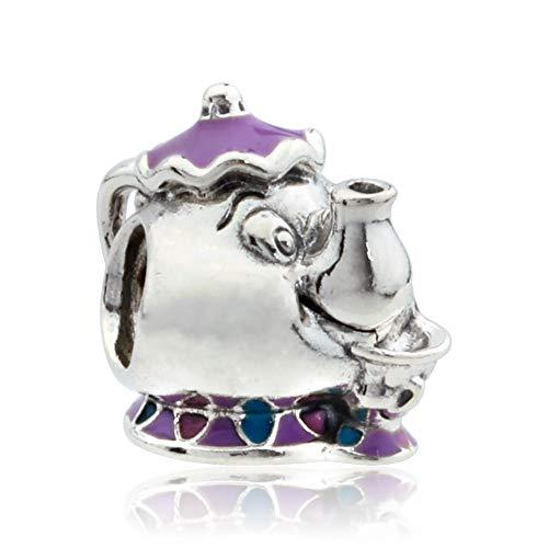 Pandora Disney Mrs. Potts and Chip Mixed Enamel Blue Sterling Silver Charm - Pendant - 792141ENMX