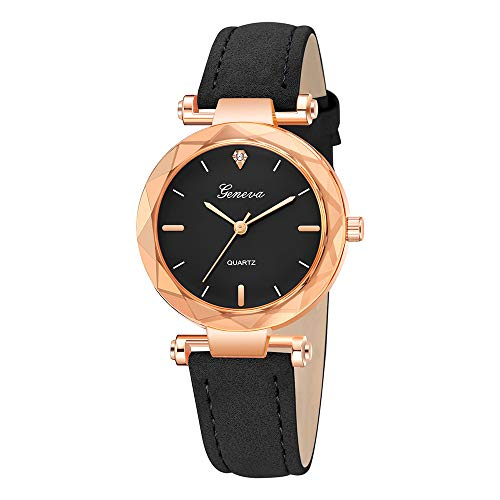Fashion Women Watch Leather Bands Simple and Exquisite Dial Analog Quartz Wristwatch (I)