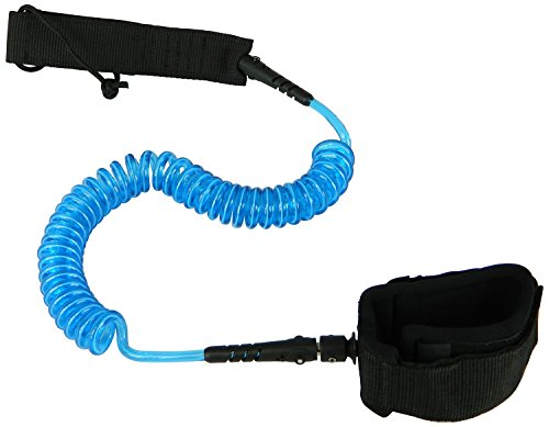 Blue SUP Leash For Lake, River or Ocean - Paddle Boarding