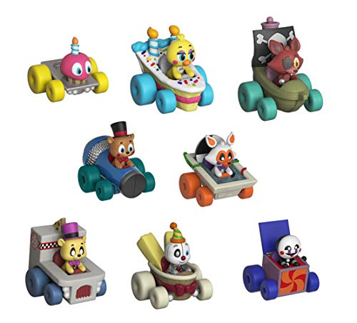 Funko FNAF Super Racers Set of 8: Foxy The Pirate, Chica, Cupcake, Ennard, Funtime Freddy, Golden Freddy, Lolbit, and Marionette