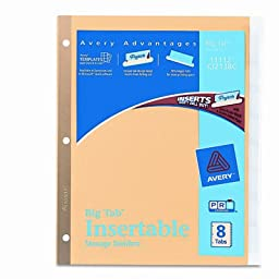 AVE11112 - Insertable Big Tab Dividers