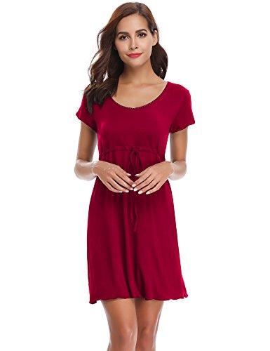 5fa1c3f81a Ropa 2018 Fresco Camisón Sexy Aibrou Corta amp  Ajustable Casual Elegante Verano  Kimono Rojo U Mujer Manga af5nwIq