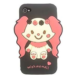 ZMY Encantador y pequeño del silicio del elefante para el iPhone 4/4S (colores surtidos) . Pink