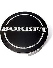 1 x Borbet 74404 zaślepka do felg, czarna, błyszcząca, srebrna, 55 mm