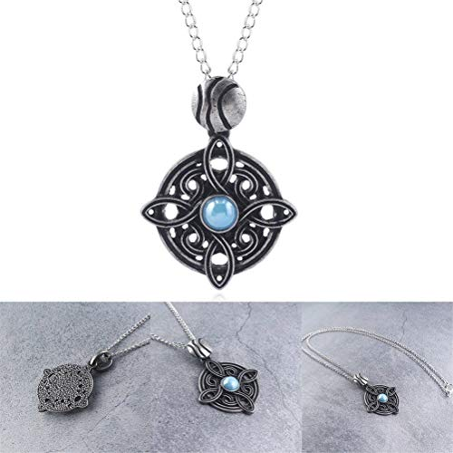 Amulet of Mara Skyrim Turquoise Retro Necklace Engagement Jewelry Sky Rim Pendants for Boys Girls Women Wedding Party Necklaces