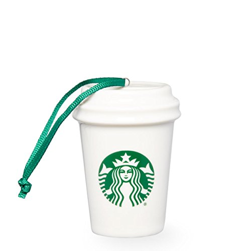 Starbucks Christmas Ornament White Logo Cup