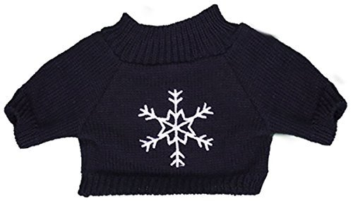 Bear Teddy Navy (Stuffems Toy Shop Navy Snowflake Sweater Teddy Bear Clothes Outfit Fits Most 14