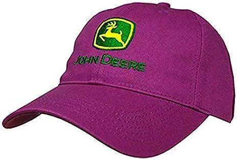 amazon com john deere i love jd logo hat fuchsia john deere clothing john deere i love jd logo hat fuchsia