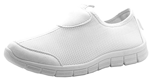 White Sport Walk Gym Shoes Walking Get Shoes Go Dek White Sport Fit Athletic Women's Trainers AqaZWxwzRO