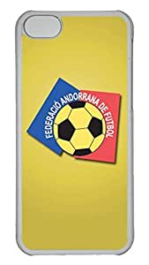 GOOD 5C Case, iPhone 5C Case, Personalized Hard PC Clear Shoockproof Protective Case Cover for New Apple iPhone 5C - Andorra Football Logo