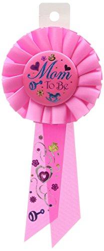 Beistle RS036 Mom to be Rosette, 31/4 by 61/2-Inch