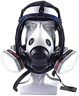 Máscara de gas y tres interfases de máscara de gas con múltiples funciones, transpirable y a prueba de polvo, protección contra incendios, química industrial máscara protectora completa,A