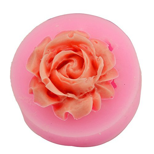 Let'S Diy Rose Shape Candy Jello 3D Silicone Mold Mould Cake Tools Bakeware Pastry Bar Soap Mold -