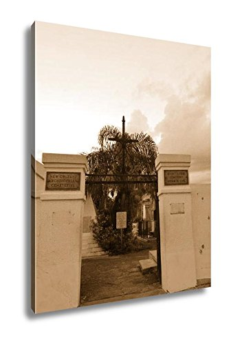 Ashley Canvas St Louis Catholic Cemetery New Orleans Louisiana USA, Kitchen Bedroom Living Room Art, Sepia 30x24, AG6544543 by Ashley Canvas