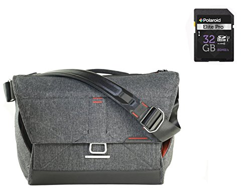 Peak Design Camera/ Tablet Messenger Shoulder Bag (Grey) + Free 32 GB Class 10 SDHC Memory Card by PD Peak Design