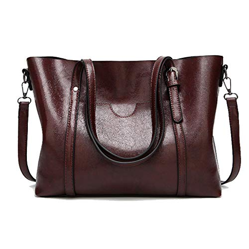 Cawmixy Satchels Women Handbag Shoulder Bags Classic Tote Ladies Hobo Purses Designer Woman Top-Handle Bags (New Wine)