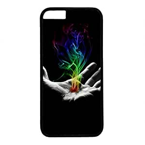 Unique Design Case for iphone 6,Fashion Black Plastic Case Back Cover for iPhone 6 with Colorful