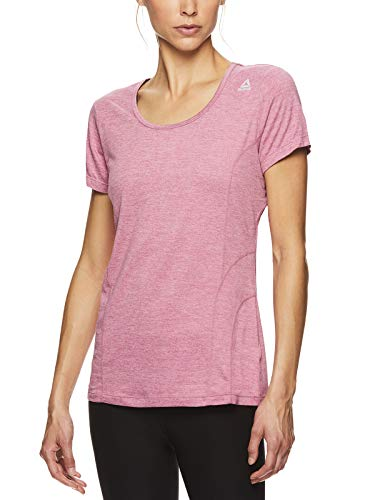 Reebok Women's Dynamic Fitted Performance Short Sleeve T-Shirt - Heather Rose Heather, Small