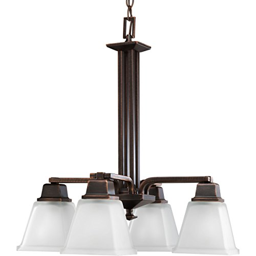 Progress Lighting P4002-74 4-Light North Park Chandelier, Venetian Bronze