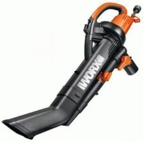 Worx WG505 12 Amp Tri Vac All-In-One Electric Blower, Mulcher & Vacuum by Positec/Worx - Lawn & Garden
