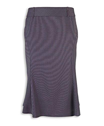 Alexandra Icona stc-nf15ch-18acampanado falda, Plain, 77% poliéster/21% viscosa/2% elastano, tamaño 18, color gris