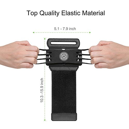 Opard Phone Wristband, 180° Rotating Sports Armband Holder, Running, Jogging, Exercise, Cellphone Universal For IPhone 6/7 Plus, Samsung Galaxy S7/S8 Edge (4'' to 5.5'')