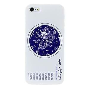 Conseguir Porcelana dragón patrón blanco jarrón caso suave de TPU para el iphone 5/5s