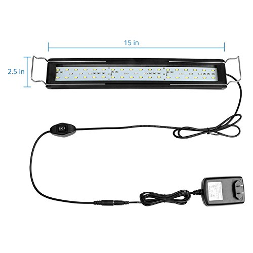 NICREW LED Aquarium Light for 16-20 inches Planted Fish Tank, White and Tri-Colored RGB LEDs, 18W