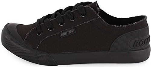 Rocket Dog Jazzin Noir Femmes Lace Up Canvas Baskets Chaussures