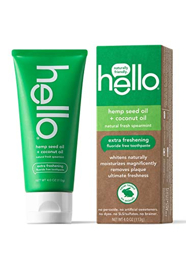 Hello Oral Care Hemp seed oil fluoride free toothpaste, 4 Ounce