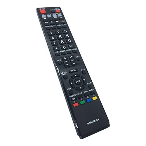 AULCMEET Replaced Lost GA840WJSA LCD TV Remote Control Fit for Sharp Aquos TV (Aquos Sharp Tv)