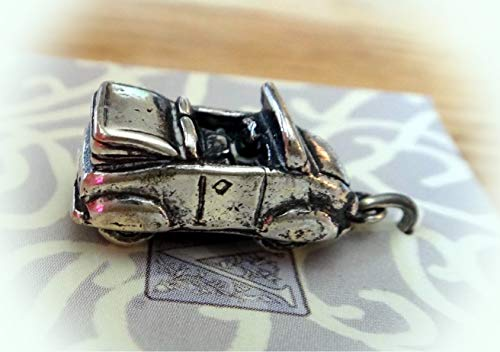 Sterling Silver 3D 21x9x10mm Cute Solid Heavy Convertible Car Charm Vintage Crafting Pendant Jewelry Making Supplies - DIY for Necklace Bracelet Accessories by CharmingSS
