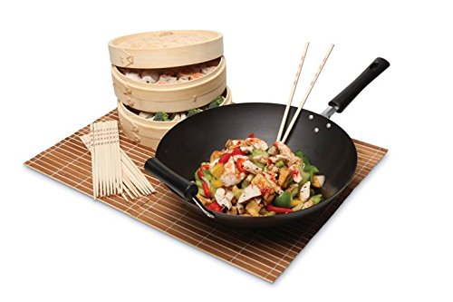 Origins 91-0083 Wok, Steamer, and Chopsticks, 3-Piece Set
