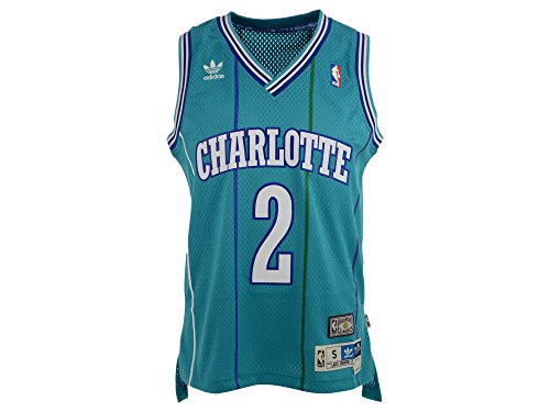 Charlotte Hornets Larry Johnson Teal Soul Hardwood Classic Stitched  JerseyThis retro throwback soul . f837f5a59