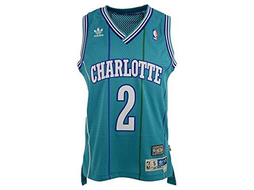 Larry Johnson Charlotte Hornets Adidas NBA Throwback Swingman Jersey – Teal – DiZiSports Store