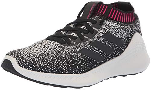 adidas Women's PureBounce+ Running Shoe, White/Black/Chalk Pearl, 12 M US ()
