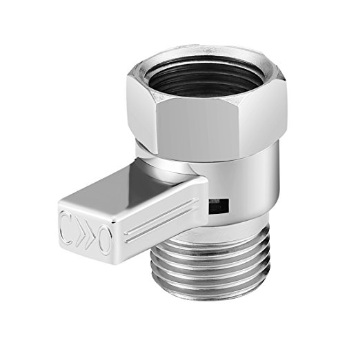 Corner Biz Bath - Brass Junction Water Flow Control Valve Stright-through Shut-off Angle Valve Accessory