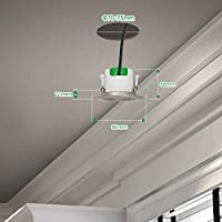 Lamparas Plafones Focos Downlight Empotrables en Techo de LED Giratorio Plástico Níquel 7W Luz Fria 5000K Agujero del Techo Diámetro 70-75MM AC100~240V Pack de 3 de Enuotek: Amazon.es: Iluminación